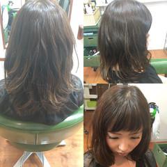 セミロング ゆるふわ くせ毛風 パーマ ヘアスタイルや髪型の写真・画像