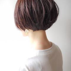コンサバ 丸みショート デート ショート ヘアスタイルや髪型の写真・画像