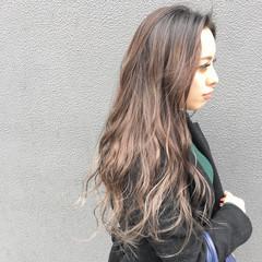 ハイライト 外国人風カラー ミルクティーベージュ グラデーションカラー ヘアスタイルや髪型の写真・画像