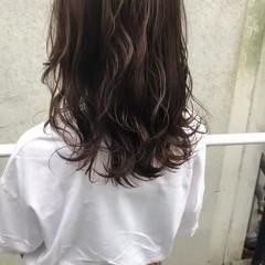 グレージュ 女子力 透明感 外国人風 ヘアスタイルや髪型の写真・画像