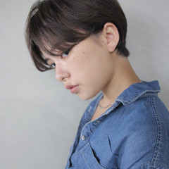 ショート ナチュラル ブリーチ ウェットヘア ヘアスタイルや髪型の写真・画像
