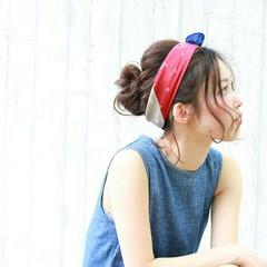 ヘアアクセ 夏 ショート ヘアアレンジ ヘアスタイルや髪型の写真・画像