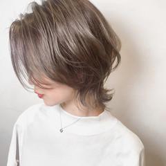 バレイヤージュ ナチュラル ハイライト ウルフカット ヘアスタイルや髪型の写真・画像