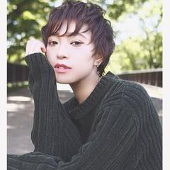 暗髪 ショート 大人かわいい 外国人風 ヘアスタイルや髪型の写真・画像