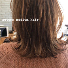 ナチュラル 鎖骨ミディアム 大人ミディアム ミディアム ヘアスタイルや髪型の写真・画像