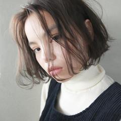 外国人風 簡単 ウェーブ ボブ ヘアスタイルや髪型の写真・画像