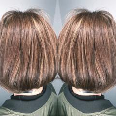 ボブ デート アウトドア 外国人風 ヘアスタイルや髪型の写真・画像