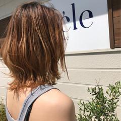 ヘアアレンジ ハイライト アウトドア 夏 ヘアスタイルや髪型の写真・画像