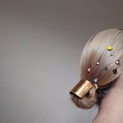 モード ヘアアレンジ ボブ ヘアスタイルや髪型の写真・画像
