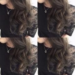 ブルー ストリート インナーカラー グレー ヘアスタイルや髪型の写真・画像