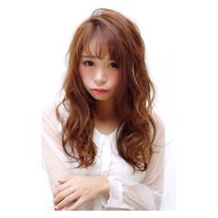 ガーリー セミロング 大人女子 フェミニン ヘアスタイルや髪型の写真・画像