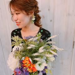 大人女子 結婚式髪型 ナチュラル ヘアアレンジ ヘアスタイルや髪型の写真・画像
