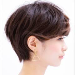 ハイライト ショート 暗髪 ローライト ヘアスタイルや髪型の写真・画像