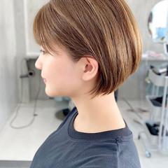 小顔ショート インナーカラー ショートボブ ベリーショート ヘアスタイルや髪型の写真・画像