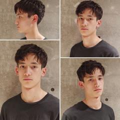 ショート ナチュラル メンズパーマ 刈り上げ ヘアスタイルや髪型の写真・画像