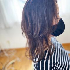 ナチュラル ロング ラベンダー くびれボブ ヘアスタイルや髪型の写真・画像