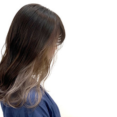 アンニュイほつれヘア グレージュ ロング 透明感 ヘアスタイルや髪型の写真・画像
