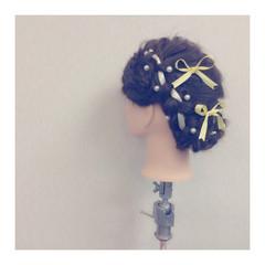 フェミニン ヘアアレンジ 大人かわいい ゆるふわ ヘアスタイルや髪型の写真・画像