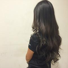 ロング 大人かわいい 外国人風 アッシュ ヘアスタイルや髪型の写真・画像