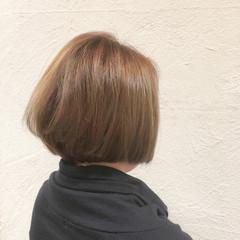 透明感 色気 ハイトーン ボブ ヘアスタイルや髪型の写真・画像