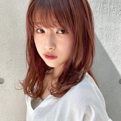 アンニュイほつれヘア デジタルパーマ モテ髪 ミディアムレイヤー ヘアスタイルや髪型の写真・画像