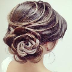成人式 甘め 結婚式 大人かわいい ヘアスタイルや髪型の写真・画像
