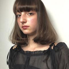ゆるふわ ガーリー フェミニン ミディアム ヘアスタイルや髪型の写真・画像