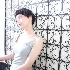 黒髪 ナチュラル ショートボブ パーマ ヘアスタイルや髪型の写真・画像