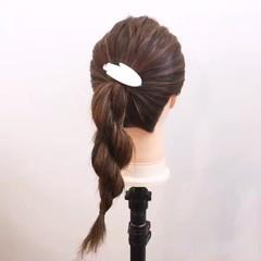 ロング 簡単 夏 ヘアアレンジ ヘアスタイルや髪型の写真・画像