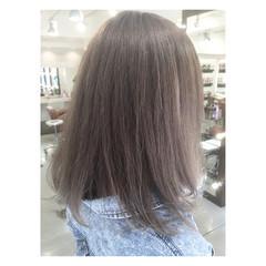 外国人風 グラデーションカラー ミディアム 大人かわいい ヘアスタイルや髪型の写真・画像