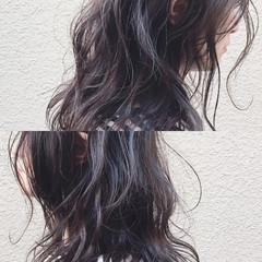 外国人風 ナチュラル アッシュ フリンジバング ヘアスタイルや髪型の写真・画像