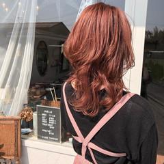 ラベンダーピンク ナチュラル ピンク ピンクアッシュ ヘアスタイルや髪型の写真・画像