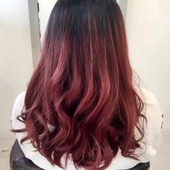 ガーリー アッシュ グラデーションカラー 春 ヘアスタイルや髪型の写真・画像