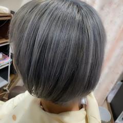 ボブ ブリーチカラー ブリーチオンカラー ブリーチ必須 ヘアスタイルや髪型の写真・画像