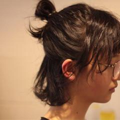 ナチュラル ヘアアレンジ 黒髪 かわいい ヘアスタイルや髪型の写真・画像
