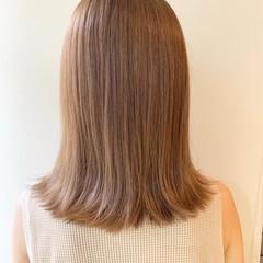 ベージュ ミルクティーベージュ ハイトーン ヌーディーベージュ ヘアスタイルや髪型の写真・画像