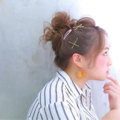 セミロング ゆるふわ おフェロ 簡単ヘアアレンジ ヘアスタイルや髪型の写真・画像