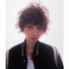 ストリート ウェットヘア ショート 外国人風 ヘアスタイルや髪型の写真・画像