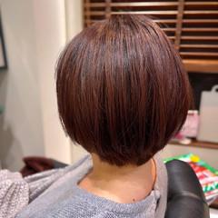 ピンクグレージュ ショートボブ ショートヘア ラベンダーピンク ヘアスタイルや髪型の写真・画像