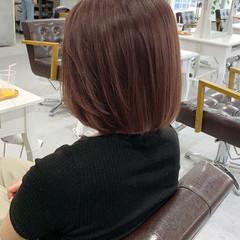 ボブ 大人ハイライト 透明感カラー バレイヤージュ ヘアスタイルや髪型の写真・画像