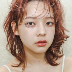 切りっぱなしボブ ラベンダーピンク ピンクベージュ ベリーピンク ヘアスタイルや髪型の写真・画像