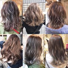 外国人風カラー ミディアム 外国人風 ハイライト ヘアスタイルや髪型の写真・画像