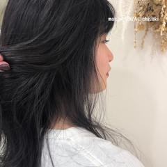透明感カラー ナチュラル ラベンダーグレージュ 巻き髪 ヘアスタイルや髪型の写真・画像