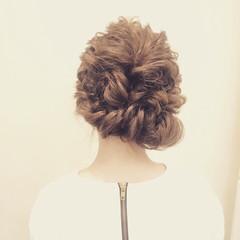 ゆるふわ 結婚式 ヘアアレンジ 大人かわいい ヘアスタイルや髪型の写真・画像