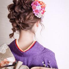 ボブ ヘアアレンジ 成人式 フェミニン ヘアスタイルや髪型の写真・画像