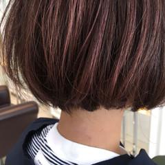 外国人風 ボブ イルミナカラー ストリート ヘアスタイルや髪型の写真・画像