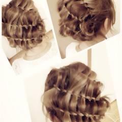 ブライダル 簡単ヘアアレンジ コンサバ ショート ヘアスタイルや髪型の写真・画像