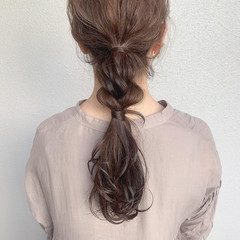 ヘアアレンジ ロング ナチュラル ブラウンベージュ ヘアスタイルや髪型の写真・画像