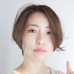 透明感 ナチュラル ショート ミニボブ ヘアスタイルや髪型の写真・画像