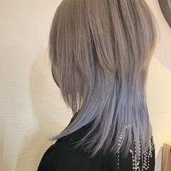 モード ミディアム ダブルカラー ウルフカット ヘアスタイルや髪型の写真・画像
